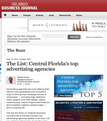 Central Florida's top advertising agencies