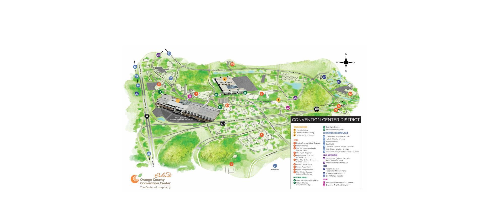 Orange County Convention Center Evōk Advertising - Orange county convention center map