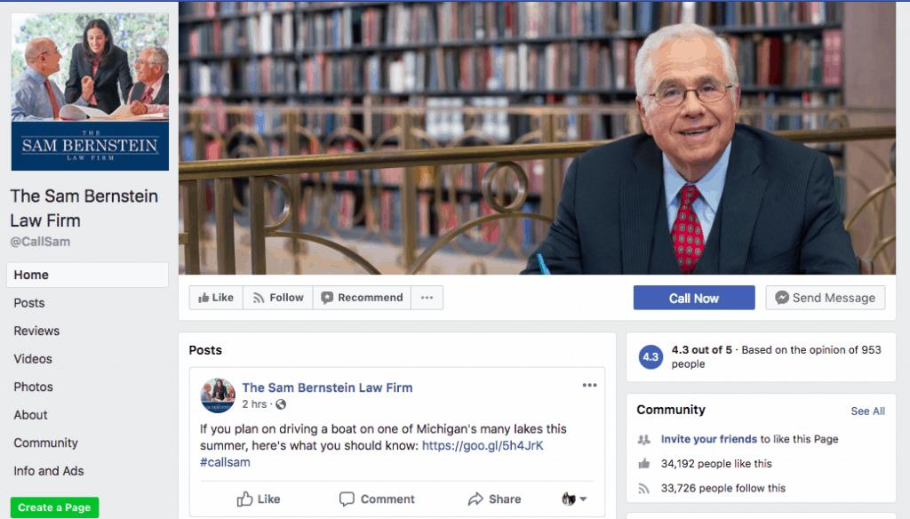 Sam Bernstein Law Facebook